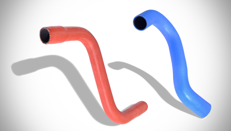 Silicone charged air hose