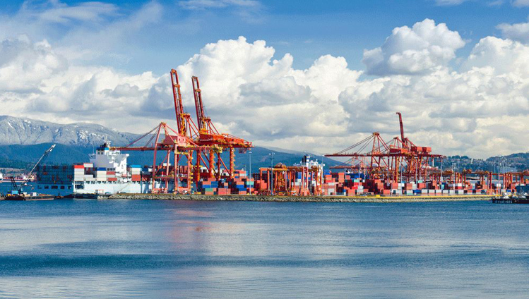 The Port of Vancouver (Canada) has the highest export volume in the whole of North America. <br/>Photo: Shutterstock