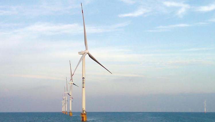 Offshore wind turbines have to be able to withstand the salty sea air. Photo: Goldwind