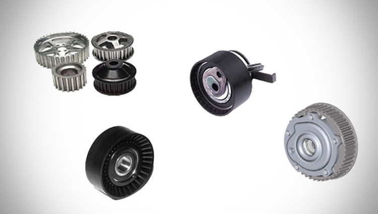 System components for timing belt drives
