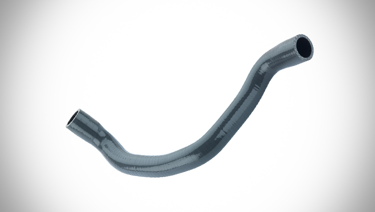 Silicone hose for temperatures up to 230°C