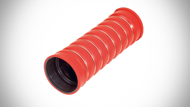 Moulded charged air hose