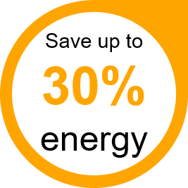 Save up to 30%25 Energy