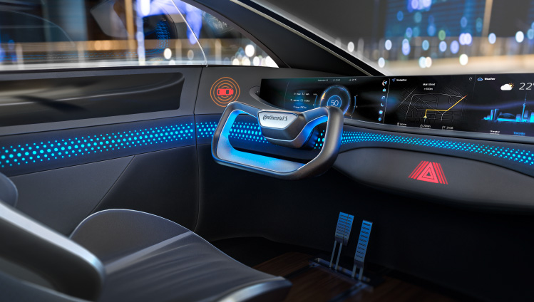 Vehicle interior with Acella Hylite Concept