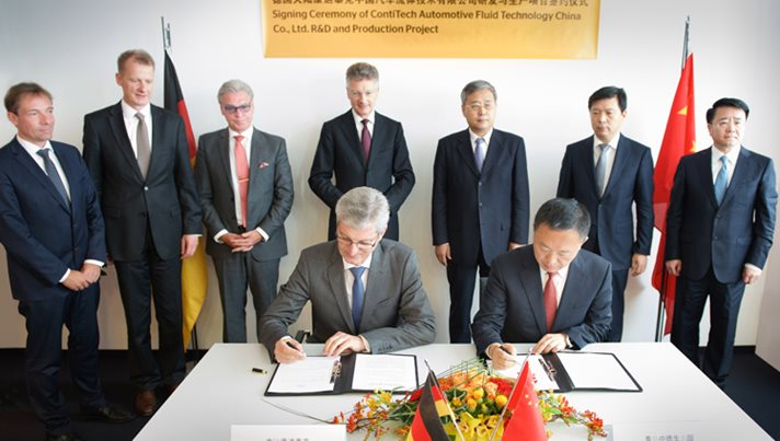 Memorandum of understanding for new hose plant in China signed