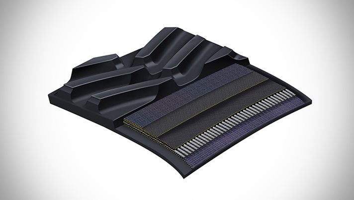New rubber track for toughest applications
