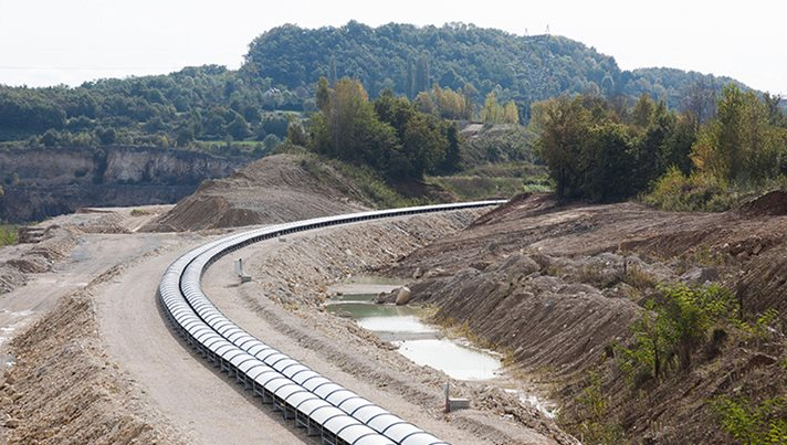 Europe's longest conveyor belt