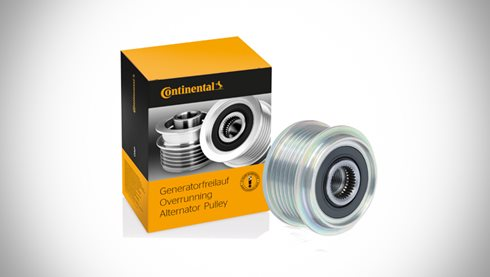 Overrunning alternator pulleys