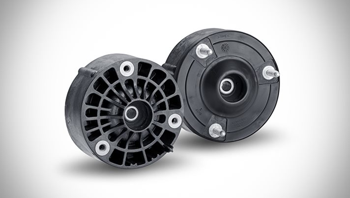 First Polyamide Strut Mount for Passenger Car Chassis