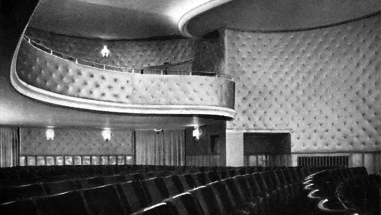 Almost universally applicable: hardly any cinema in the post-war period managed without Acella wall coverings